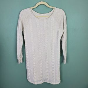Le Lis Long Sleeve Pattern Crew Neck Top Small